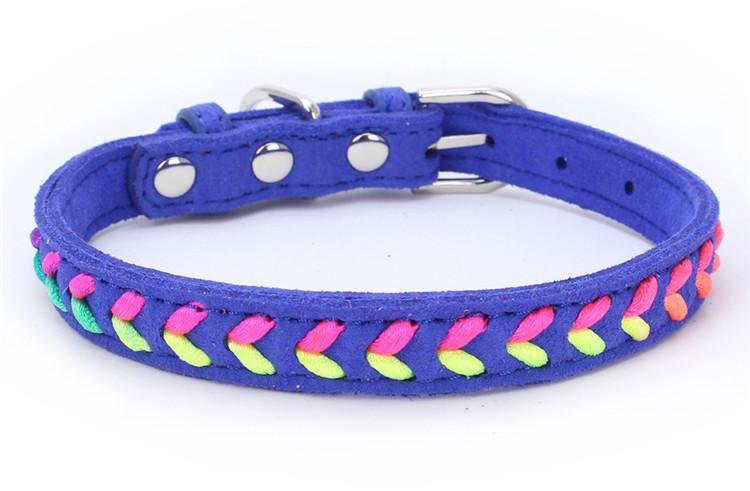 Collier tendance Coloré Chat, chaton et chien bleu