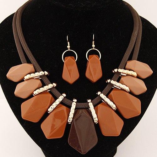 Collar llamativo Moda para mujer 2018 gargantilla conjunto femenino - Bisutería - foto 5