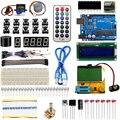 Versão Atualizada do Starter Kit Para Arduino UNO R3 Aprendizagem Suíte DIY Projeto Básico com Mega328 Transistor Tester