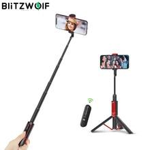 BlitzWolf BW-BS10 все в одном портативный bluetooth селфи палка Выдвижной Штатив селфи палка монопод для iPhone/Xiaomi/huawei