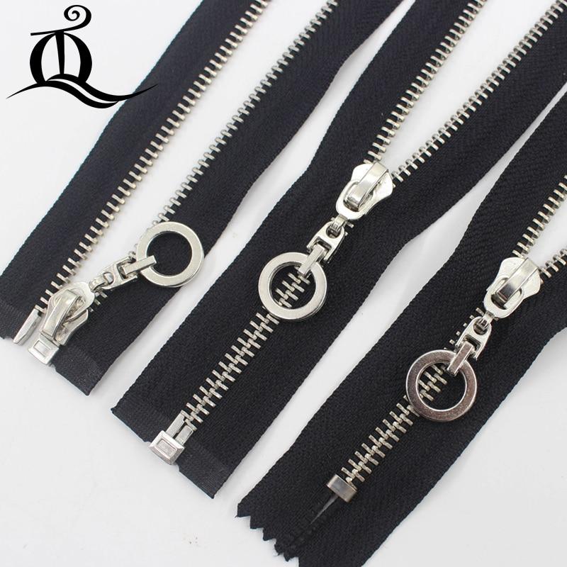 13570af886fc Close-End open 15-45cm 5  1pcs white black silver Metal Zipper for