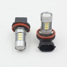 JanDeNing 2 шт. H8/H9/H11/H16 27-SMD Автомобильный светодиодный противотуманные лампочки дневные ходовые огни лампы для фар 860LM 6500 K
