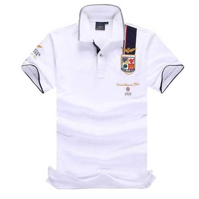 71b9e552f8984 Camisas Masculinas Polo calvin Australiano de alta Qualidade de VAREJO Camisa  POLO Dos Homens AERONAUTICA MILITARE