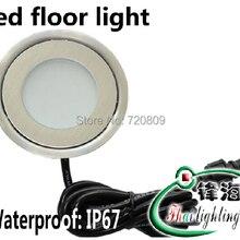 10 шт./лот; ; обувь; DC12v ультратонкий СВЕТОДИОДНЫЙ торшер встроенная подсветка лестницы Открытый подземный лестничное освещение круглый