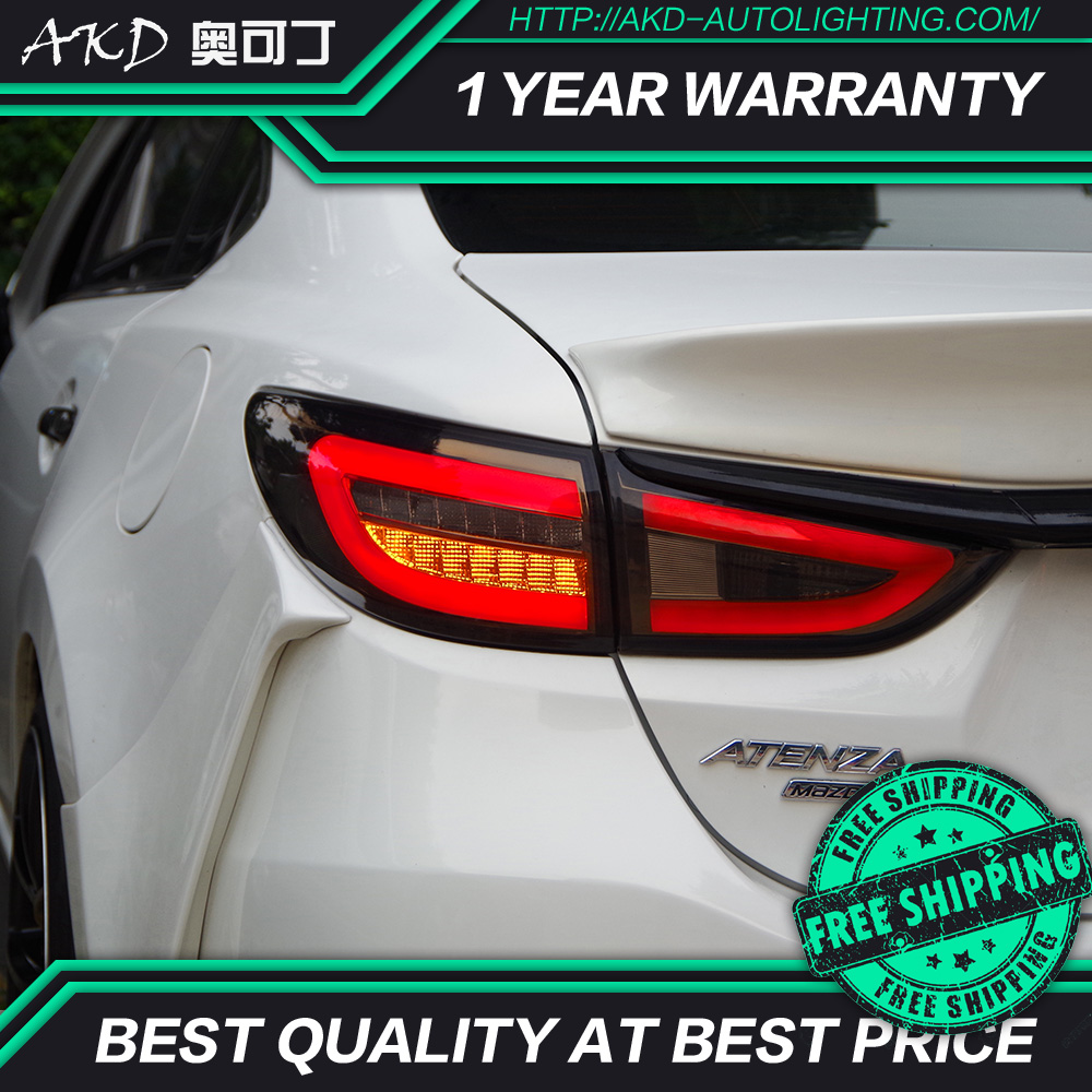 AKD tuning cars Tail lights For Mazda 6 Mazda6 Atenza Taillights LED DRL Running lights Fog