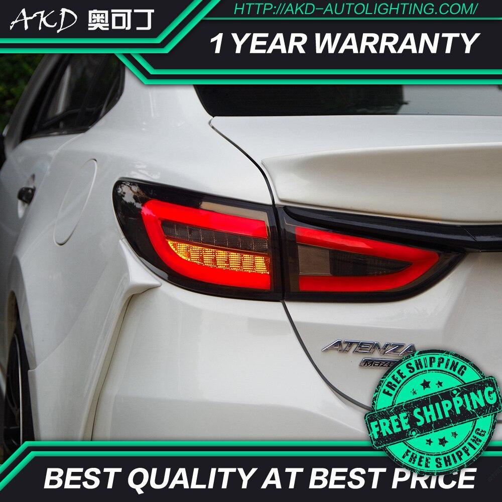 AKD tuning cars Tail lights For Mazda 6 Mazda6 Atenza Taillights LED DRL Running lights Fog lights angel eyes Rear parking light