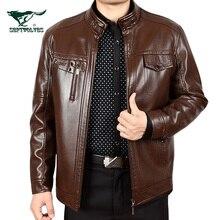 Free shipping ! men's genuine leather jacket winter quinquagenarian sheepskin leather clothing plus velvet outerwear / M-3XL