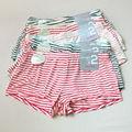 Mujeres Modal algodón rayada elástico pajarita de la cintura de talla grande flojo ocasional pantalones cortos pijamas Sleep