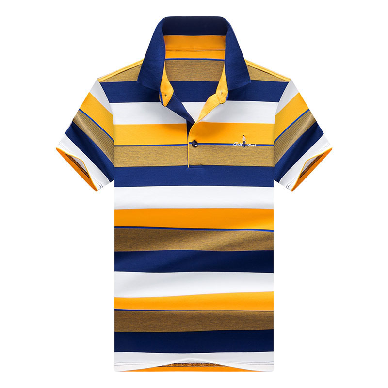 Brand New Men's Polo Shirts Short Sleeve 2018 Summer Male Fashion Striped Embroidery Casual Lapel Polos Men Top Tees 3XL AF8538