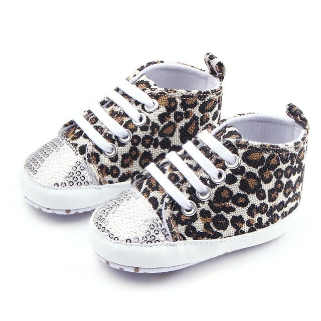 f5a4af70a68c Spring Autumn New Style Baby Girls Boys Canvas Toddler Shoes Infant Fashion Soft  Sole Leopard Shoes 0~12 M