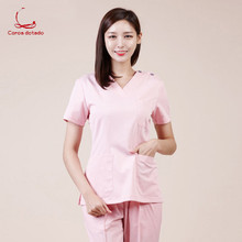 лучшая цена Hand-washing suit set Korean medical cosmetology and plastic surgery pet doctor's working clothes surgical suit