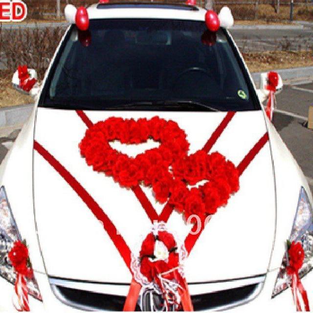 Artificial Flowers 1 Set Lot Wedding Car Exterior Decoration Flowe