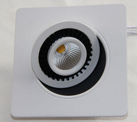 Dimmable LED Downlight 10W15W COB Led Ceiling Recessed Downlight Spot Light Super Bright Square Down Light
