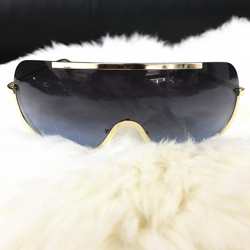 Rimless Gold Clear Sunglasses Men Women Brand Designer Aviator Clear Sunglasses 23