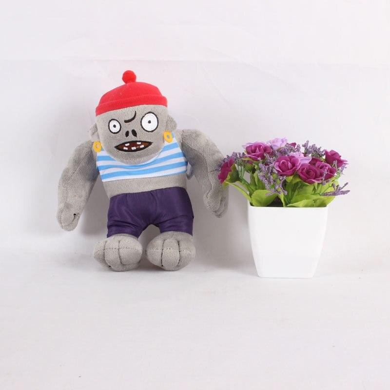 22cm Newest Plants VS Zombies Gargantuar Zombie Plush Toys PVZ Pirate Gargantuar Plush Stuffed Toys Doll Gifts For Kids Children