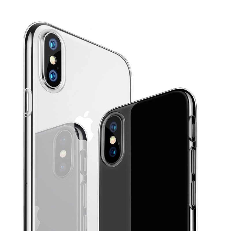 عدم وجود واضح لينة بولي TPU الهاتف حقيبة لهاتف أي فون 11 11Pro ماكس XS ماكس XR X 6 6S 7 8 Plus 5 5s SE 4 4s الغطاء الخلفي الحالات الشفافة