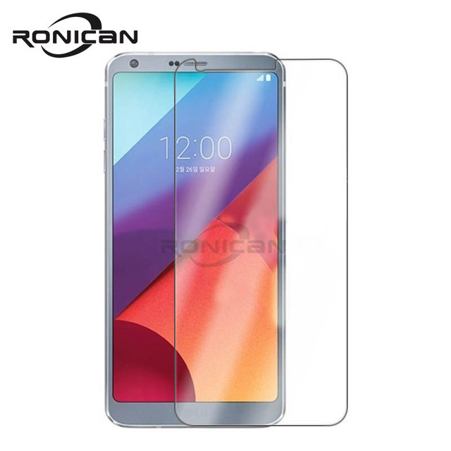 Ronican vidro temperado para lg g6 protetor de tela 9 h 2.5d 0.26mm filme proteção do telefone para lg g6 vidro temperado