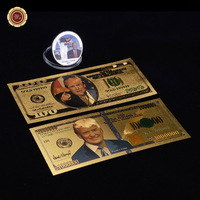 WR Donald Trump The United States of America 45th President Banknote Sliver Coin Collectible Souvenir Gold Foil Banknote
