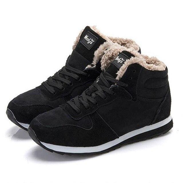 Плюс размер 36-46 Зима Мужчины Причинно-Следственной Обувь С Плюшевыми Мужская Теплые Ботинки Моды для Мужчин Снега Сапоги Зимние Мужчины обувь 9c11