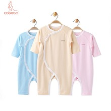COBROO Baby Girl/Boy Rompers with Long-Sleeve Solid Color Unisex Cotton One-Pieces 0-3-6-9-12 Months