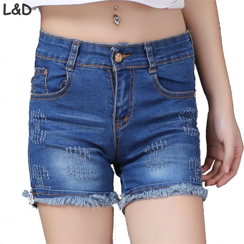 2018 Heißer Verkauf Sommer Mode Denim Shorts Frauen Kühle Kurze Hosen Hohe Taille Jeans Plus GrÖße 34 Hochwertigen Shorts HöChste Bequemlichkeit