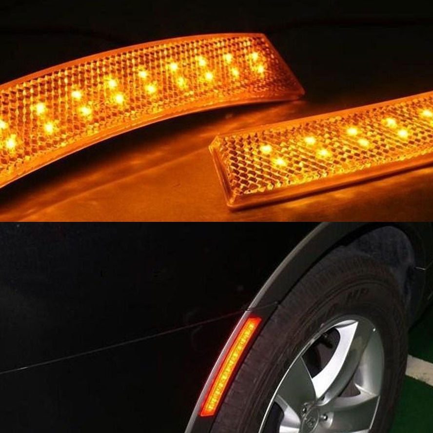 Universal 2x 18 Led Car Fender Wheel Eyebrow Side Yellow