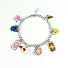Kawaii CardCaptor Sakura Charm Bracelets With Animal Pendant Bangle Fashion Movie Bracelet For Women Girls