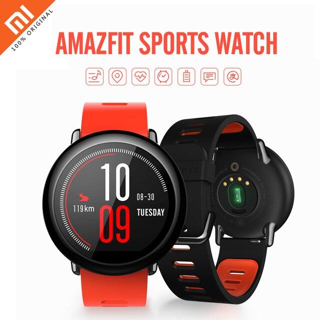 80dfe13a394d Оригинальный Xiaomi Amazfit Водонепроницаемый Смарт часы Bluetooth 4.0 Wi-Fi  Dual Core 512 МБ 4