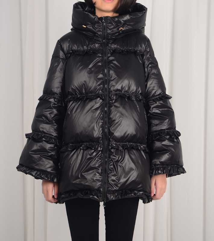 Winter Fashion Brand Ruffles Stitching Hooded Duck Down Coat Female 5XL Plus Size Hooded Thicker Long Warm Down Parkas Wq708