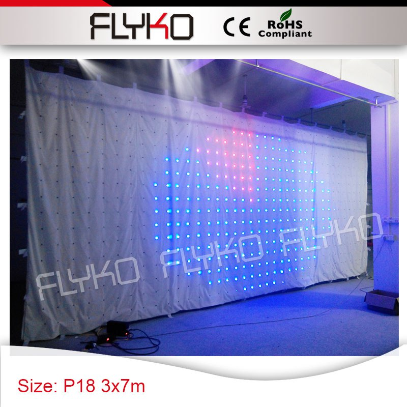 free shipping Pixel18 standard size 3x7m vision curtain colorful led lights for indian wedding backdrops|backdrop led lights|led colorful lights|led backdrop lights - title=