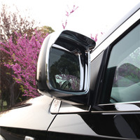 For Dodge Journey Fiat Freemont 2013 2016 ABS Chrome Car Rear view Mirror sticker rain eyebrow Car Styling accessories 2pcs