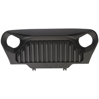 Lantsun J282 Matte Black Front Grill Gladiator Grille Mesh Inserts For Jeep Wrangler TJ 97 06