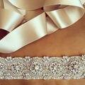 Correia da Faixa de Casamento de Cristal da Forma das mulheres Strass Pérola Nupcial Sash Belt Casamento Sash