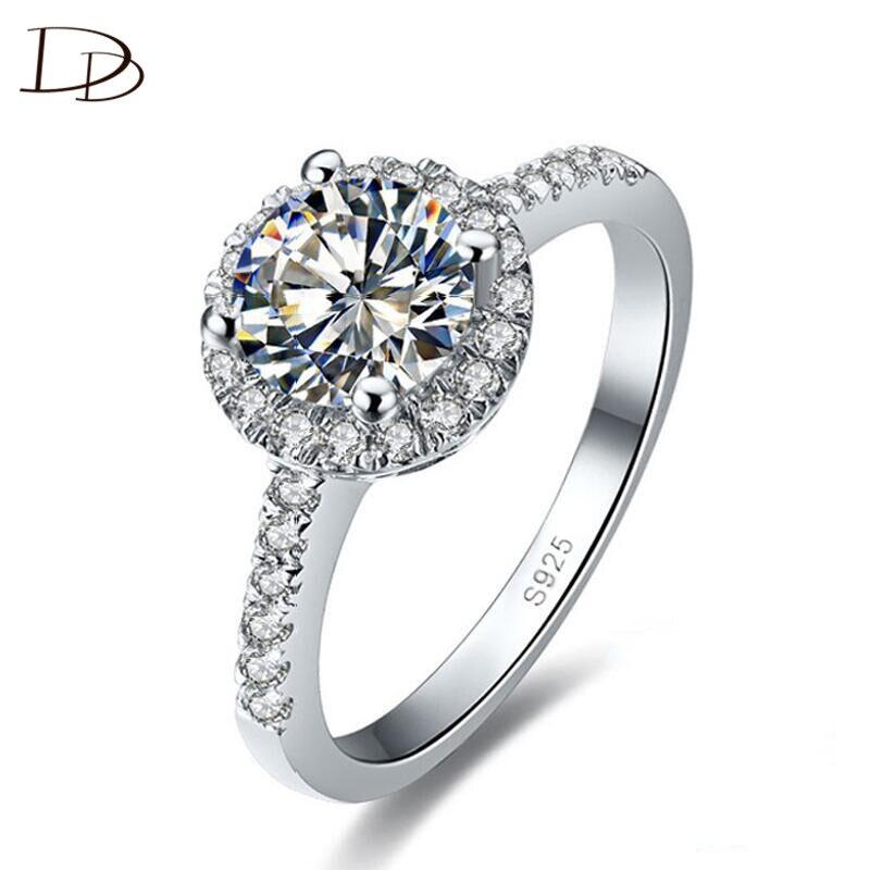 fcb704762015 Color de oro blanco anillos redondos para las mujeres AAA rhinestone  joyería de la vendimia elegante