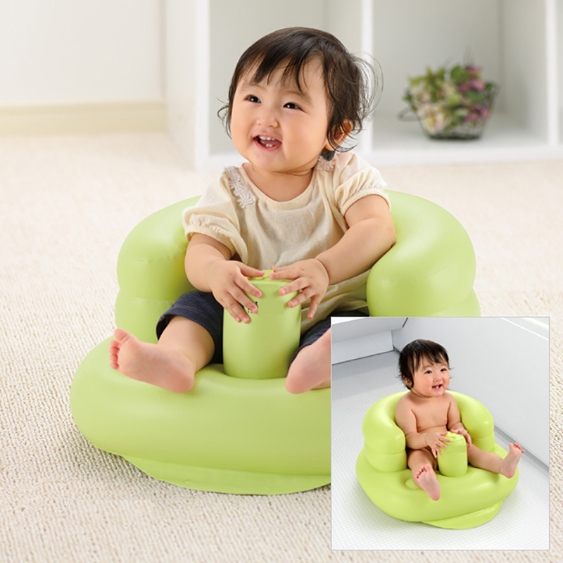 Купить с кэшбэком Baby Chair Bean Bag Infant Portable Kids Chair Baby Bath Seat Nest Bed New Inflatable Chair Beanbag Kids Baby Sofa Support Pink