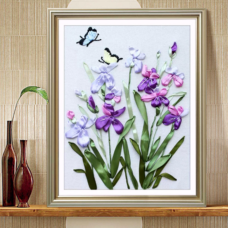 Aliexpress buy d modern orchids painting diy ribbon