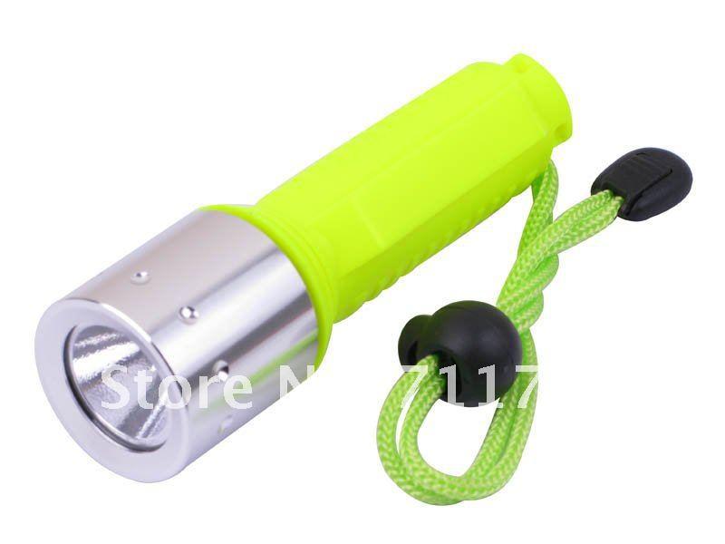 Free shipping Diving diver torch 10pcs CREE Q5 Green Handle LED Diving Flashlight