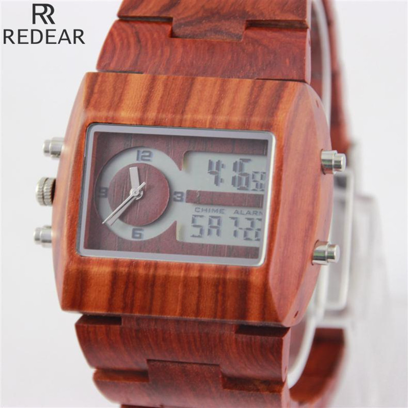 REDEAR911 font b all b font bamboo material luxury men s font b watch b font