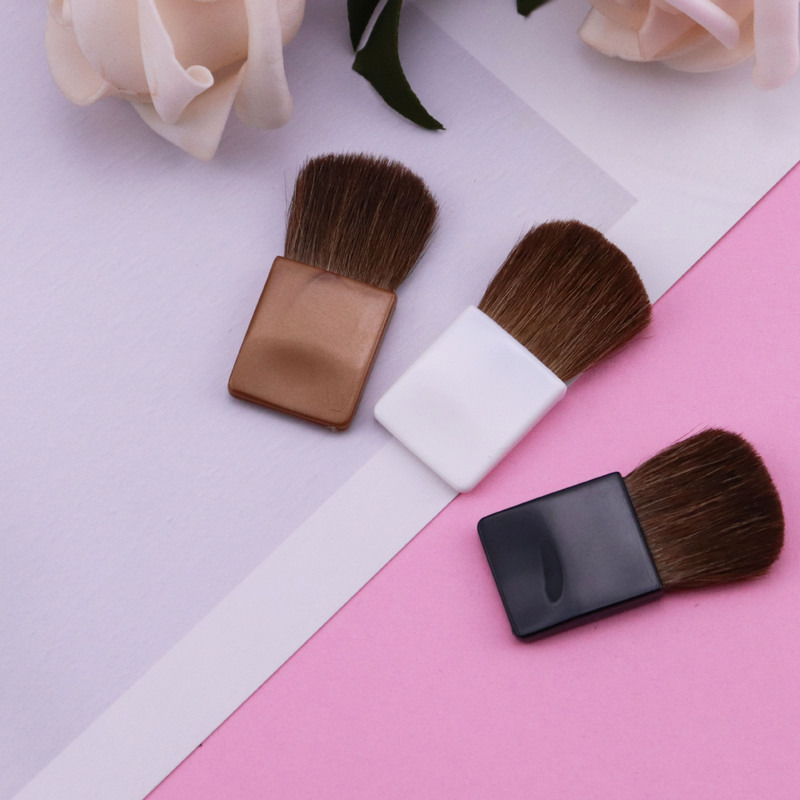 1pcs mini flat head makeup brush horse hair portable blush brush professional makeup artist beauty tools