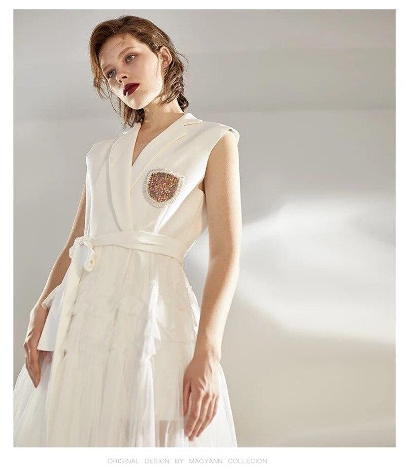 Robe Qualité Blanc Con Rivet Gros De Party Sexy V Robes Corps cou Femmes Empire Celebrity Soirée En Haute Diamants Élégant Mode Bwq58R