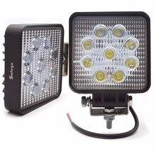 Safego 2X רכב 27 W led עבודת אור מנורת 12 V led נהיגה אורות 4X4 טרקטורונים טרקטור offroad 27 W led worklight ערפל מנורה עבור משאיות 24 V