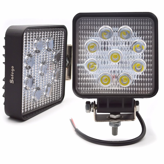 Safego 2X xe 27 W led làm việc ánh sáng đèn 12 V led lái xe đèn 4X4 ATV máy kéo offroad 27 W led worklight đèn sương mù cho xe tải 24 V