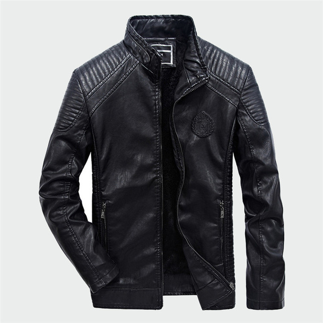 Men Leather Suede Jacket Fashion Autumn Motorcycle PU Leather Male Winter Bomber Jackets Outerwear Faux Leather Coat Jacket