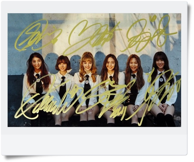 signed GFRIEND autographed  original group photo 6 inches freeshipping 062017 A
