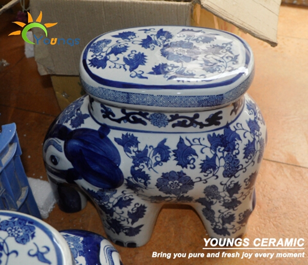 Aliexpress.com  Buy Oriental Cute Elephant Blue and White Ceramic Garden Stool Seat for Indoor and Outdoor from Reliable white ceramic garden stool ... & Aliexpress.com : Buy Oriental Cute Elephant Blue and White Ceramic ... islam-shia.org