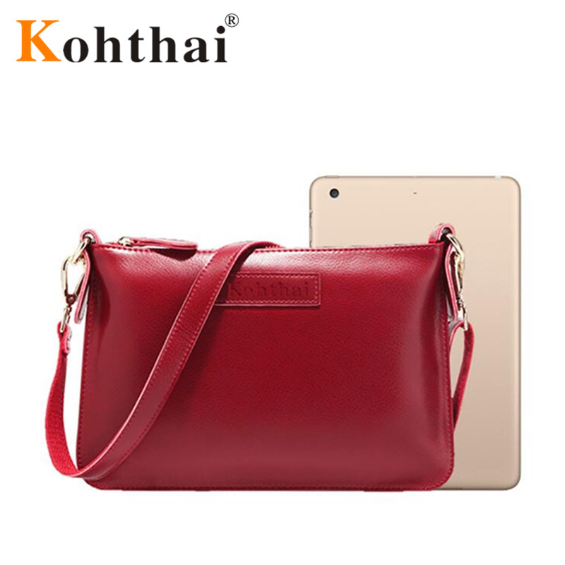kohthai 2016 Simple Genuine Leather Flap Women s Bag Designers Cheap  Handbags Free Shipping Real Leather Bags FB197-in Totes from Luggage   Bags  on ... 0a2298cc2348b