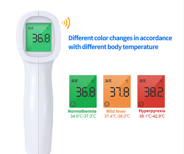 Cofoe Forehead Thermometer Body Temperature Gun Fever Measure Meter Infrared IR Non Contact LCD Digital Tool for Child Adult