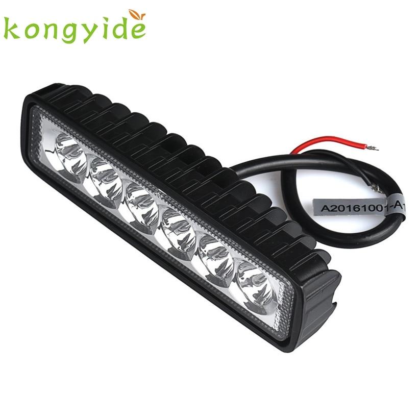 Car-styling 2017 18W spotlight LED Light Work Bar Lamp Driving Fog Offroad SUV 4WD Car Boat Truck jan14 Levert Dropship