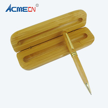 ACMECN Newest Bamboo Ball Pen with Case Gifts Set Hand-made Natural Eco-friendly Pencil Gift Box for Business