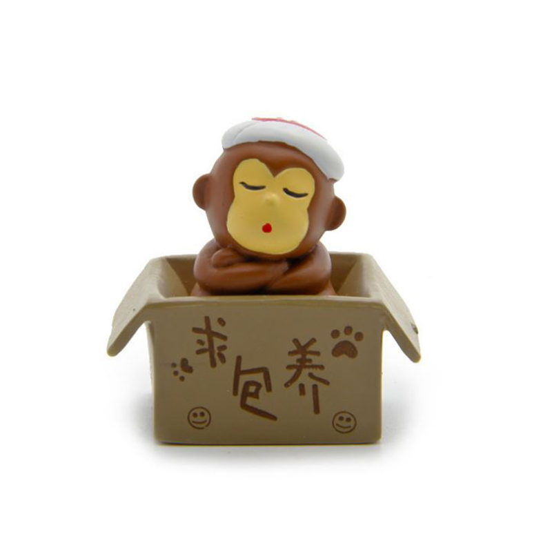 Toy Animal Action-Figures Seeking Doll Sleeping-Monkey-Model Cartoon for Children Gifts